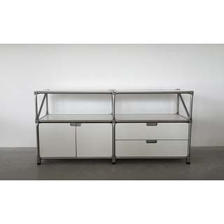 system 180 sideboard 22889 wei edelstahl breite 147 cm ebay. Black Bedroom Furniture Sets. Home Design Ideas